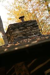 The cabin roof at the Super Secret Getaway