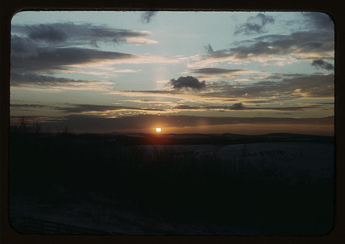 Sunrise or Sunset (Library of Congress) Public Domain