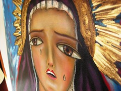 Santa Dolorosa, gesso and oil painting by Susanna Chavez
