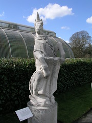 A unicorn outside the Palm House at Kew Gardens