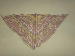 Mystic Light Shawl - Clue 1 Redo Complete