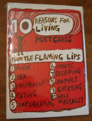 Flaming Lips Postcard Box by Neu Haus Press.