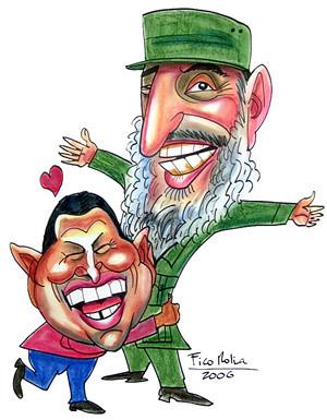 Hugo Chávez e Fidel Castro