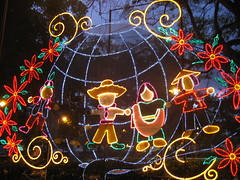 Christmas decoration in the Condado park, San Juan