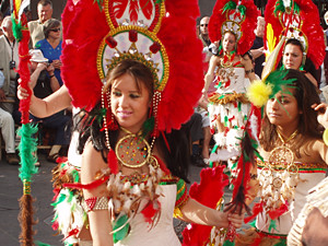 Dancers in the closing parade