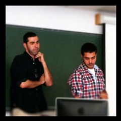 Con Raúl Mancilla y Toni Aguilar de <a href=