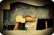Oskar Schlemmer. Escena de torre con arquitectura transformable. 1921. Colonia. Theatermuseum der Universitat. Proyecto de decorado para la obra Asesinos, esperanza de mujeres.