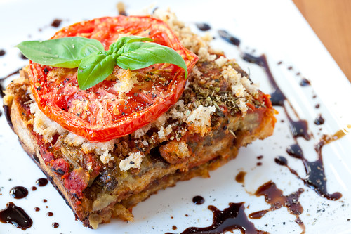Rustic Bread and Eggplant Lasagna
