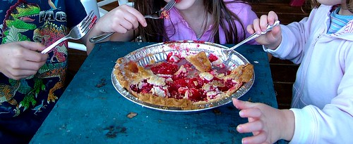 Savoring the last of the Strawberry Rhubarb pie