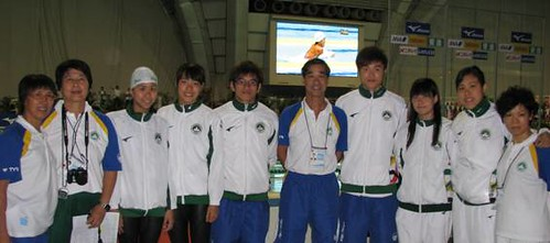 810團長麥志權祝賀教練員與獲獎及破澳門紀錄運動員
