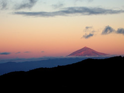 Sunset on Mount Teide from La Gomera