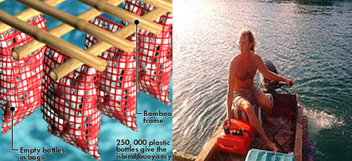 2045197861 dd1ba45739 o Man (Re)Builds Mexican Island Paradise on 250,000 Recycled Floating Bottles
