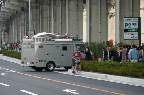 駐車場に入れない日本テレビ