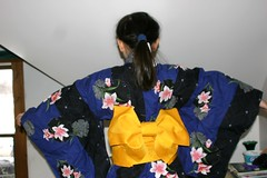 Sophia in Kimono with Outstretched Arms