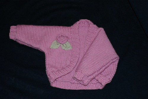 Baby Shrug with Rose
