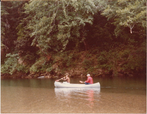 Dad and I canoe the Gualala River