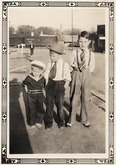 Vintage: Three boys, all dressed up