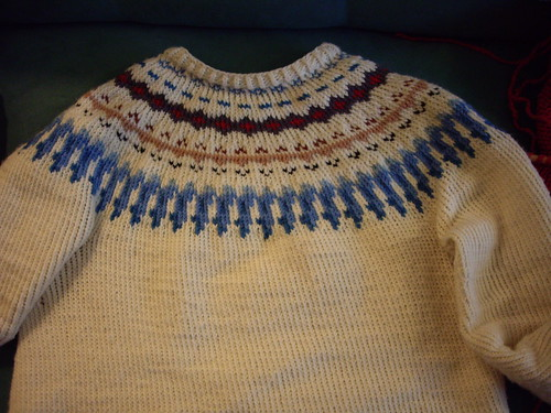 My finished yoke sweater