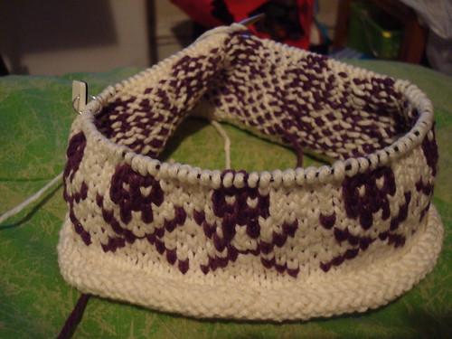 Skull cap in progress