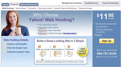 yahoo hosting