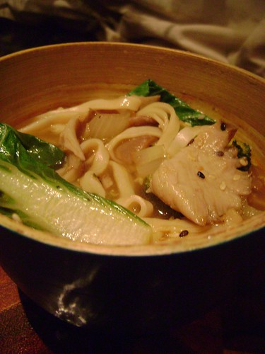 Oyster and Pak Choi Soup