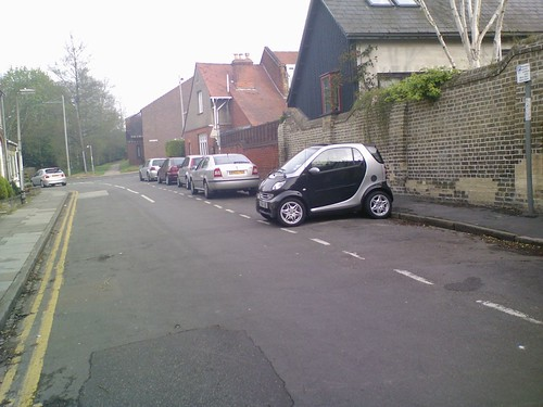 Smart Car parked in Cambridge side-street