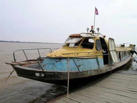 Boat into Cambodia