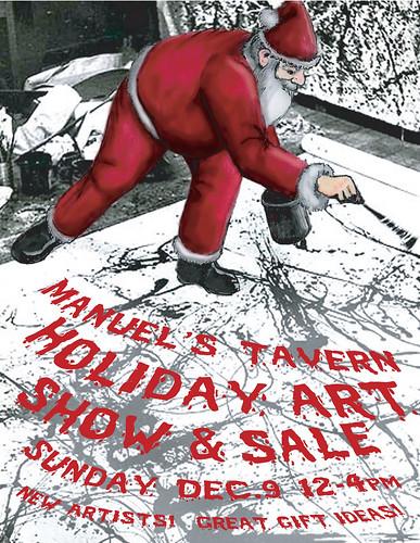 Manuel's Tavern Holiday Art Sale