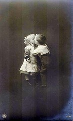 Vintage Postcard ~ First Kiss