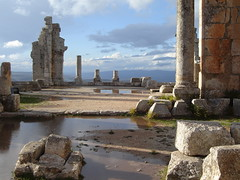 After Rain At St.   Simeon Ruins