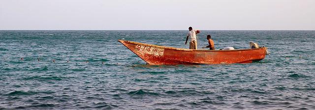 Offshore fishermen in Aden