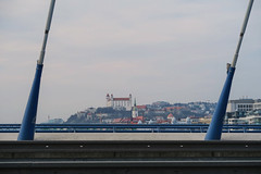 View to Bratislava when leaving