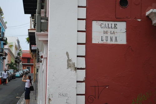 Taking photos in the Old San Juan