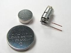 Motor & coin cells