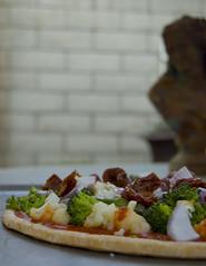 veggie pizza statue
