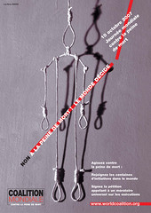 Affiche de la Journée mondiale contre la peine de mort 2007
