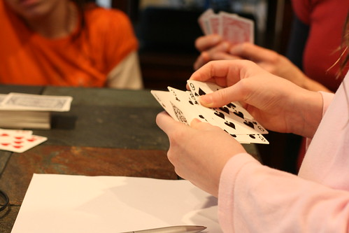 Card playing at Shasta