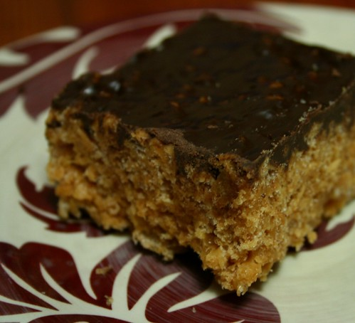 Peanut Butter Rice Crispy Square