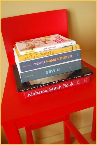 pile o' new books!