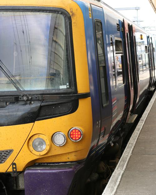 Colourful British Train
