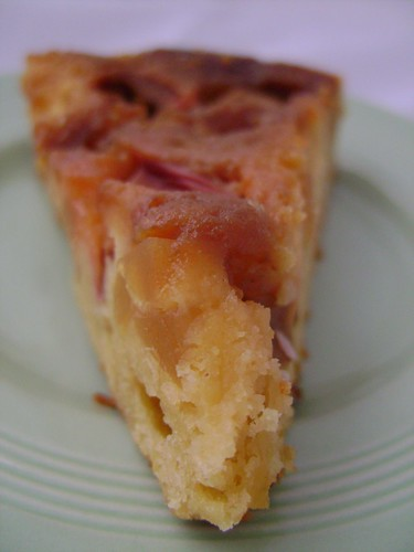 Rhubarb and Ginger Upside Down Cake