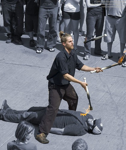Busker - Fire Juggling