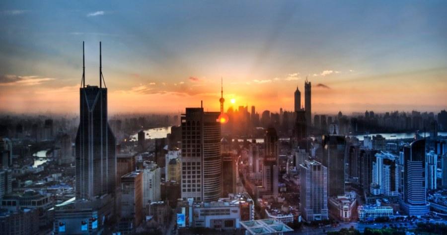 The Infinite City at Sunrise