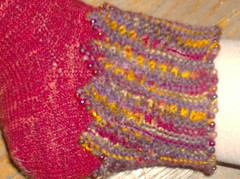 Pele's Party Socks - Cuff Detail