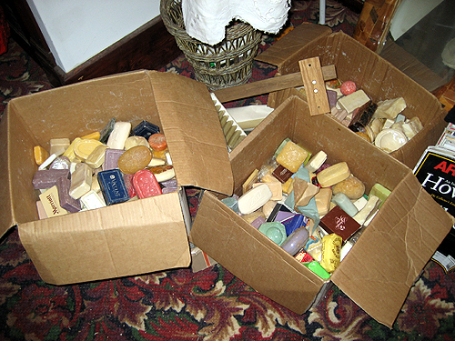 Boxes of soaps.