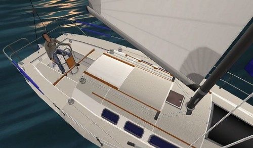 Taku Raymaker checks sail luff