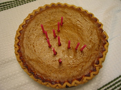 My birthday pie