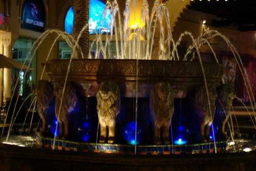 Elaborate water fountain