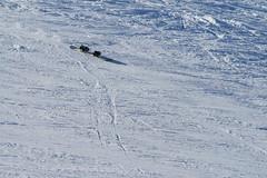 Runaway snowboard