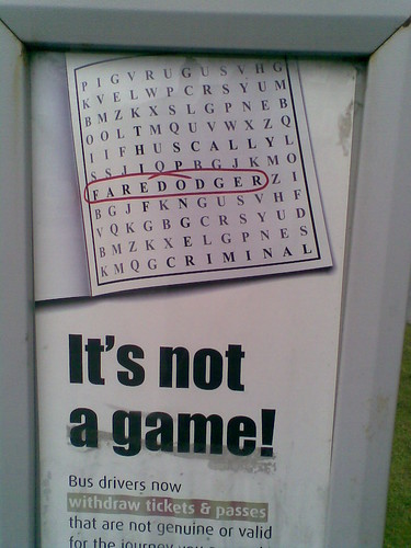 It's not a game!